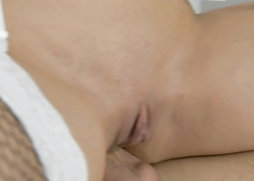 Busty model lets photographer fuck her anally