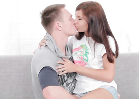 Guy focused efforts on babe's tight butthole