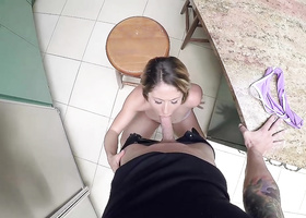 Attractive honey has rough sex on the pool table