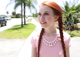Red-haired babe was intimate with Latin stepdad