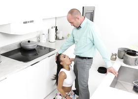 Negligent schoolgirl gets fucked by vigilant stepdad