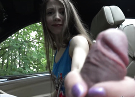 Russian tootsie pounded by tricky driver