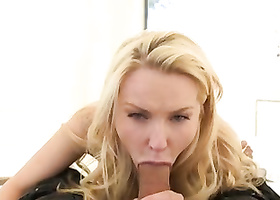 Sweetie moans feeling hard dick in trimmed pussy