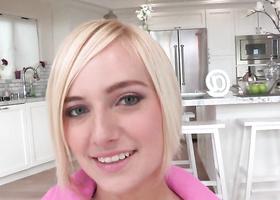 Sweet blonde feels satisfied thanks to big dick