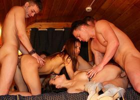 Shameless classmates organized crazy anal orgy