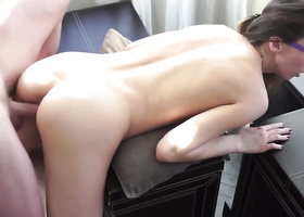 Foretold sex with nerdy dude makes cutie satisfied