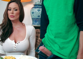 Kendra Lust's doing hot blowjob for new daughter's boyfriend