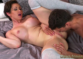 Titty boo acts toughly with lover being screwed