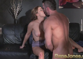Fabulous girl owned and creampied by bearded lover