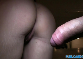 PublicAgent Slutty blowjob and fucked