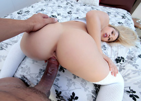Cute youthful blonde starring in sunday sex video