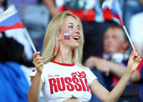 Russian football fan Natalya Andreeva in the swinger club