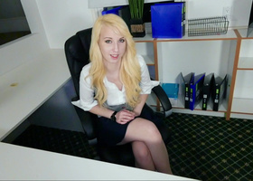 POV facefuck and sex for a petite blonde whore