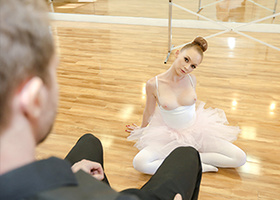 Ballerina gets her pale body teached a lesson