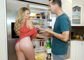 Young blonde whore is seducing her stepfather