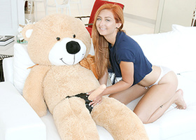 Redheaded teen fucks a guy after fucking a bear
